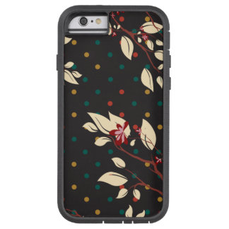 Trendy Black Floral and Polka Dots Tough Xtreme iPhone 6 Case