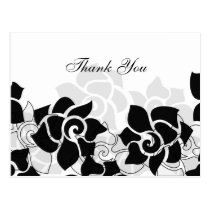 trendy black floral ThankYou Cards