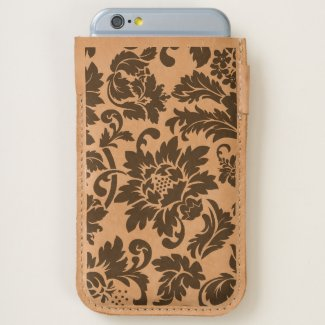 Trendy Black Floral Vintage Damask