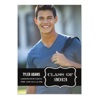"Trendy Black Label Class of 2013 Graduation Card 5"" X 7"" Invitation Card"
