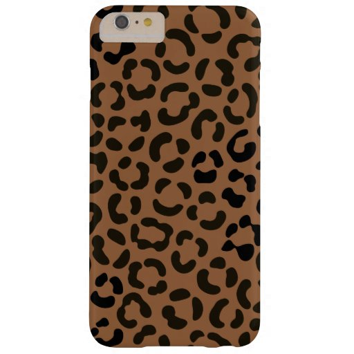 Trendy Black on Tan Leopard Print Pattern Barely There iPhone 6 Plus Case