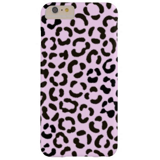 Trendy Black & Pink Leopard Fur Effect Pattern Barely There iPhone 6 Plus Case
