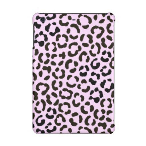 Trendy Black & Pink Leopard Fur Effect Pattern iPad Mini Case