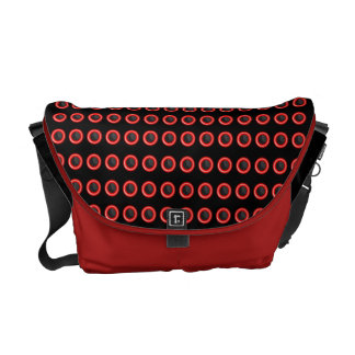 """Trendy black red """"polka dot"""" pattern courier bags"""