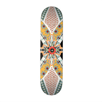 Trendy Black Red Yellow Tribal Skateboard Deck