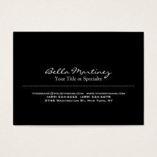 Trendy Black Special Unique Professional Business Card