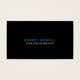 Trendy Black White Blue Standard Business Card