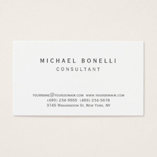 Trendy black white custom made business card