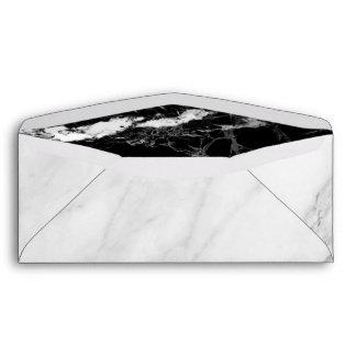Trendy Black White Marble Stone Texture Envelope