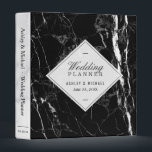 """Trendy Black White Marble Texture Wedding Planner 3 Ring Binder<br><div class=""""desc"""">================= ABOUT THIS DESIGN =================  Trendy Black White Marble Texture Wedding Planner Binder.  (1) For further customization,  please click the &quot;Customize&quot; button and use our design tool to modify this template. The background color is changeable.  (2) If you need help or matching items,  please contact me.</div>"""