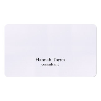 Trendy Black & White Plain Creative Modern Business Card