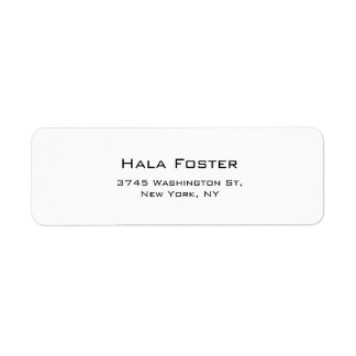 Trendy Black & White Plain Elegant Modern Style Label
