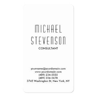 Trendy Black White Rounded Corner Business Card