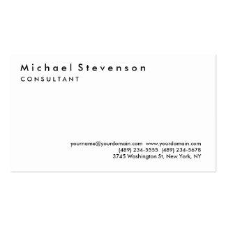 Trendy Black White Simple Plain Business Card