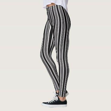 Thank_You_Always Trendy Black & White Stripe Leggings