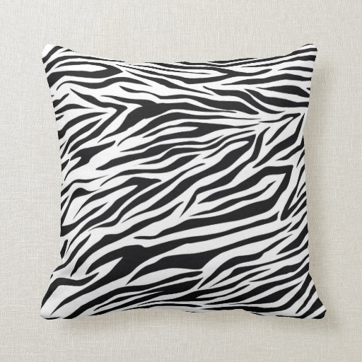 Trendy Black White Zebra Decorative Throw Pillow Zazzle