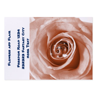 trendy bling on rose large business cards (Pack of 100)