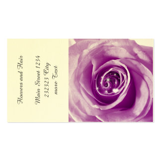 trendy bling on rose,lilac (I) Double-Sided Standard Business Cards (Pack Of 100)