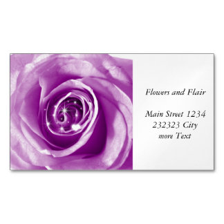 trendy bling on rose,lilac (I) Magnetic Business Cards (Pack Of 25)