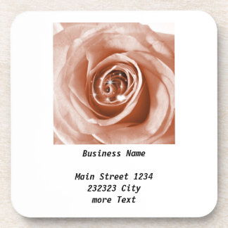 trendy bling on rose,soft peach (I) Beverage Coasters