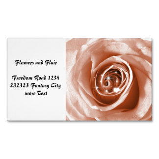 trendy bling on rose magnetic business cards (Pack of 25)