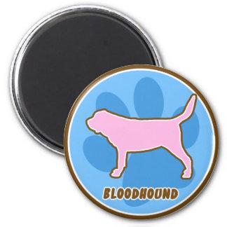Trendy Bloodhound 2 Inch Round Magnet