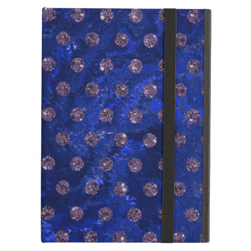 Trendy Blue and faux rhinestones Case For iPad Air