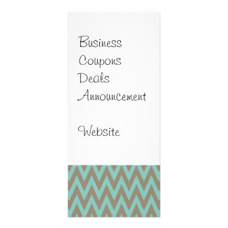 Trendy Blue and Gray Chevron Stripes Zig Zags Rack Card