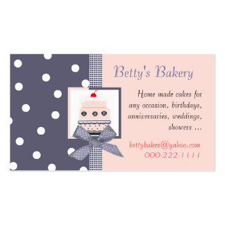 Trendy blue and pink Business Card