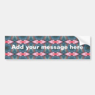Trendy Blue and Pink Geometric design Bumper Sticker