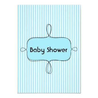 trendy blue Baby shower Invitation