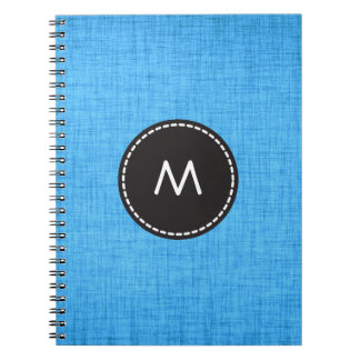 Trendy Blue Background Notebook