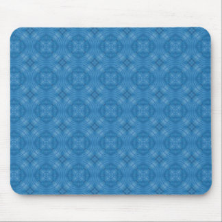 Trendy Blue Circle Pattern Mouse Pad