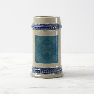 Trendy Blue Circle Pattern Coffee Mugs