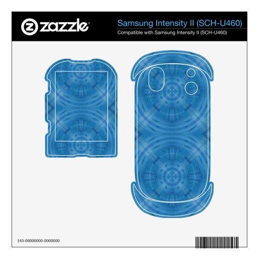Trendy Blue Circle Pattern Samsung Intensity Decals