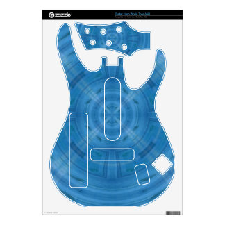 Trendy Blue Circle Pattern Guitar Hero Skin