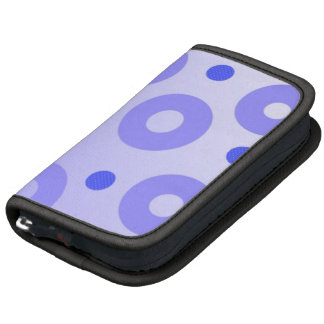 Trendy Blue Circles and Dots Pattern Folio Planners