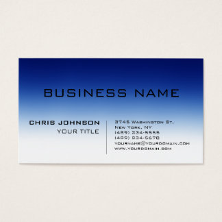 Trendy Blue Contemporary Consultant Business Card