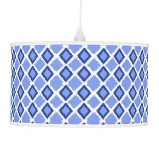 Trendy Blue Diamond Ikat Pattern