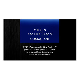 Trendy Blue Grey Wood Pattern Business Card