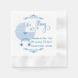Trendy Blue New Baby Boy Paper Napkins