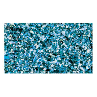 Trendy Blue Painted Pebble Beach Business Cards