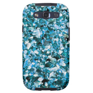 Trendy Blue Painted Pebble Beach Samsung Galaxy SIII Covers