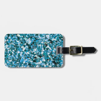 Trendy Blue Painted Pebble Beach Luggage Tags