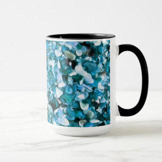 Trendy Blue Painted Pebble Beach Mug