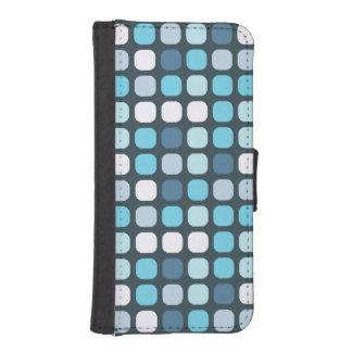 Trendy Blue Polka Dot Cosmetic Phone Wallets