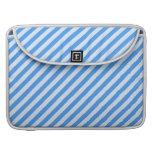 Trendy  Blue & White Modern Stripes Pattern Sleeves For MacBook Pro