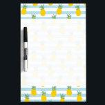 "Trendy Blue White Stripes Pineapple Pattern Dry Erase Board<br><div class=""desc"">Trendy Blue White Stripes Pineapple Pattern</div>"