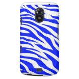Trendy Blue White Zebra Stripes Wild Animal Prints Samsung Galaxy Nexus Cover
