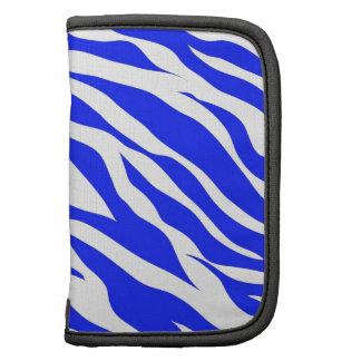 Trendy Blue White Zebra Stripes Wild Animal Prints Planner